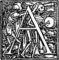 62a.?Initial capital letter ?A? from Dance of Death Alphabet