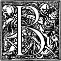 "62b.—Initial capital letter ""B"" from Dance of Death Alphabet"