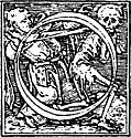 "62o.—Initial capital letter ""O"" from Dance of Death Alphabet."