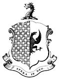Bookplate detail: family crest