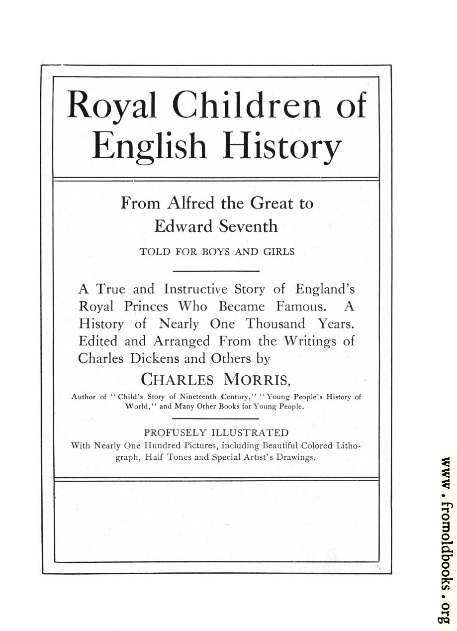 title page from royal children of english history 919x1268 147k