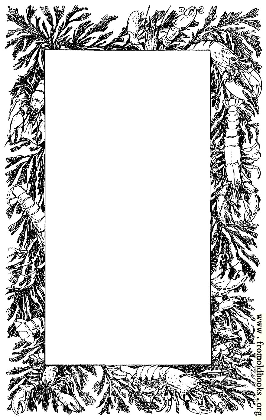 Decorative Page Border Of Lobsters And Crayfish