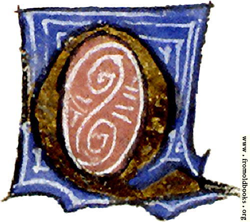 "[Picture: calligraphy: mediaeval decorative letter ""Q""]"