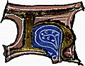 "calligraphy: mediaeval decorative letter ""H"""