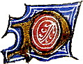 "calligraphy: mediaeval decorative letter ""P"""