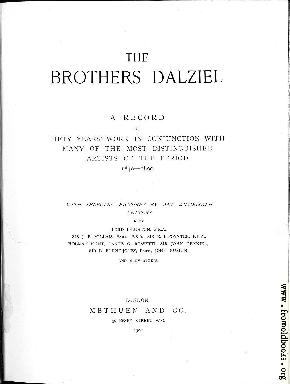 [Picture: Title Page, The Brothers Dalziel]