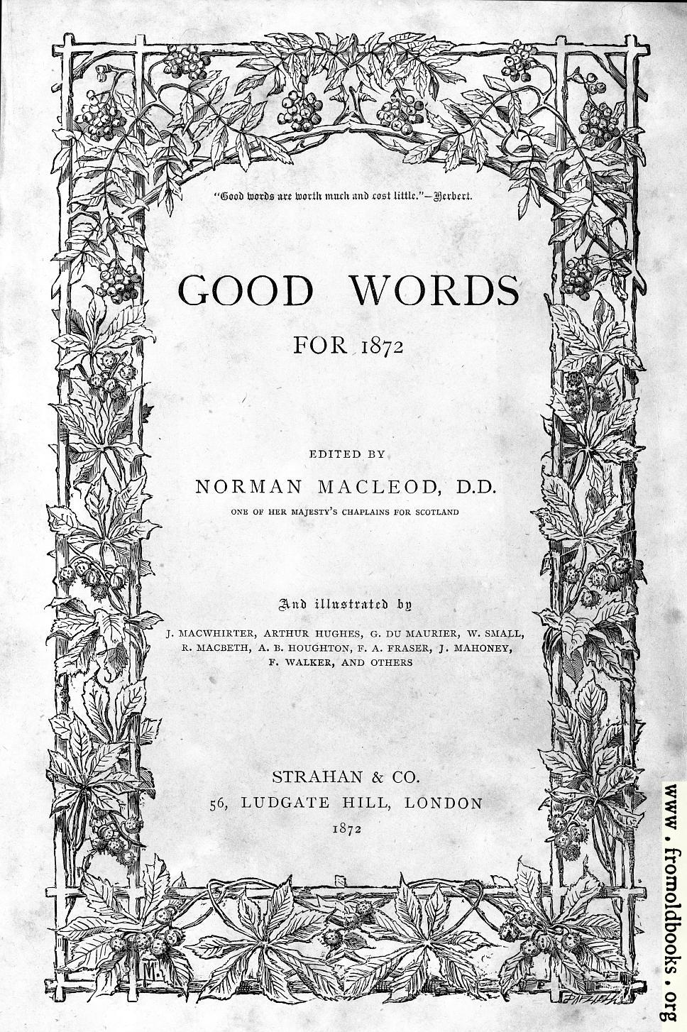 the front cover or title page of good words from  968x1454 365k jpg