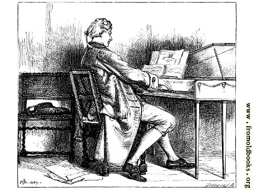 [Picture: Music.---A Man at the Spinet.]
