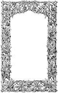 Victorian vine-leaf page border