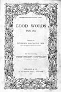 "The front cover or title page of ""Good Words"" from 1872"