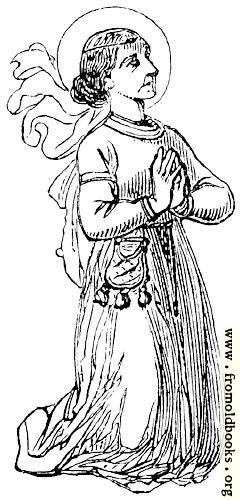 [Picture: Kneeling saint or nun]
