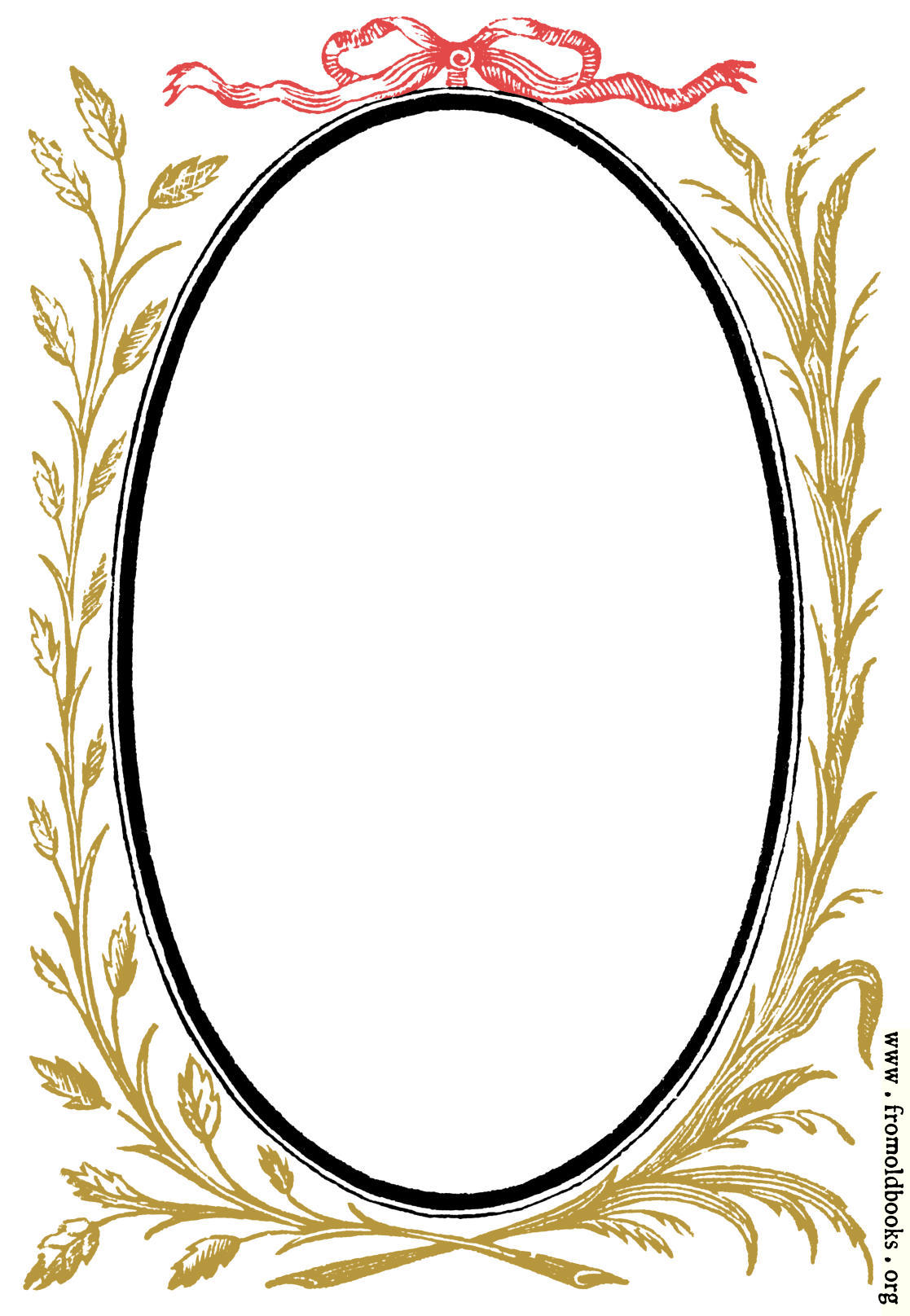 892 Oval Frame With Leafy Branches