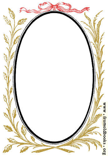 [Picture: 892.—Oval Frame With Leafy Branches]
