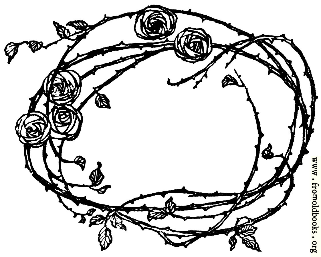 [Picture: Border of Roses and Thorns]