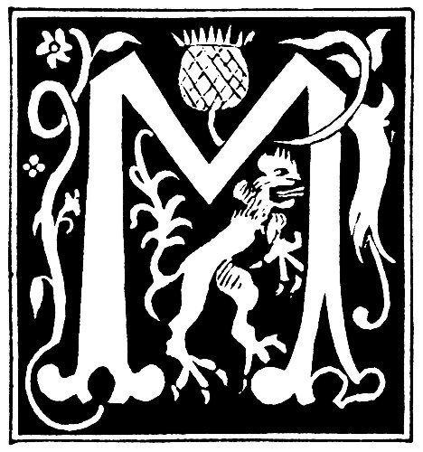 Decorative Initial Letter M From 16th Century
