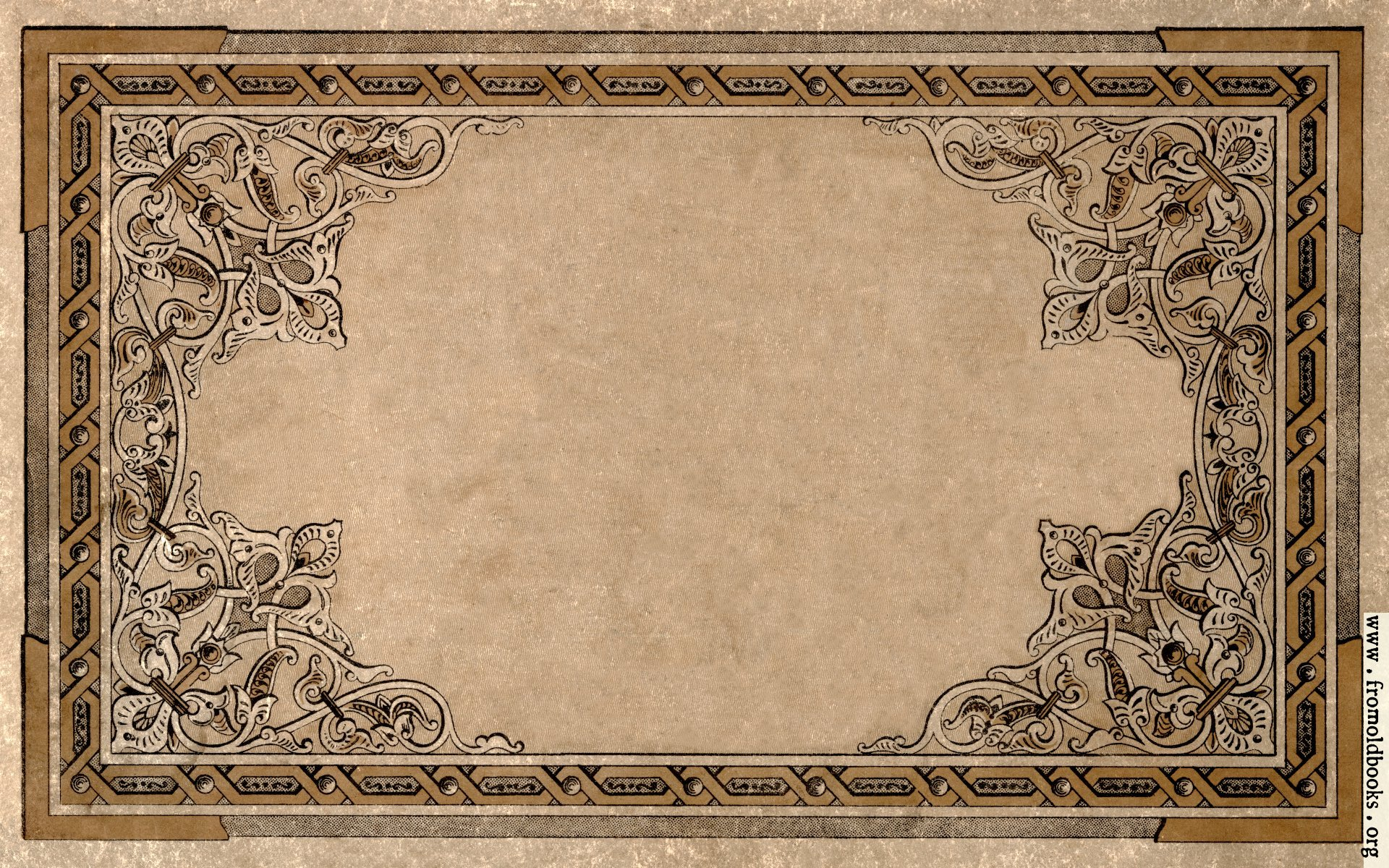Old Book Cover Clipart ~ Vintage ornate border