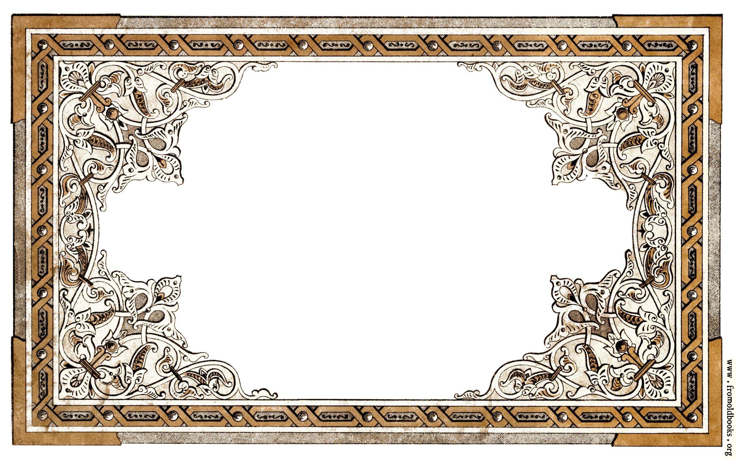 Vintage shabby-chic ornate full-page border