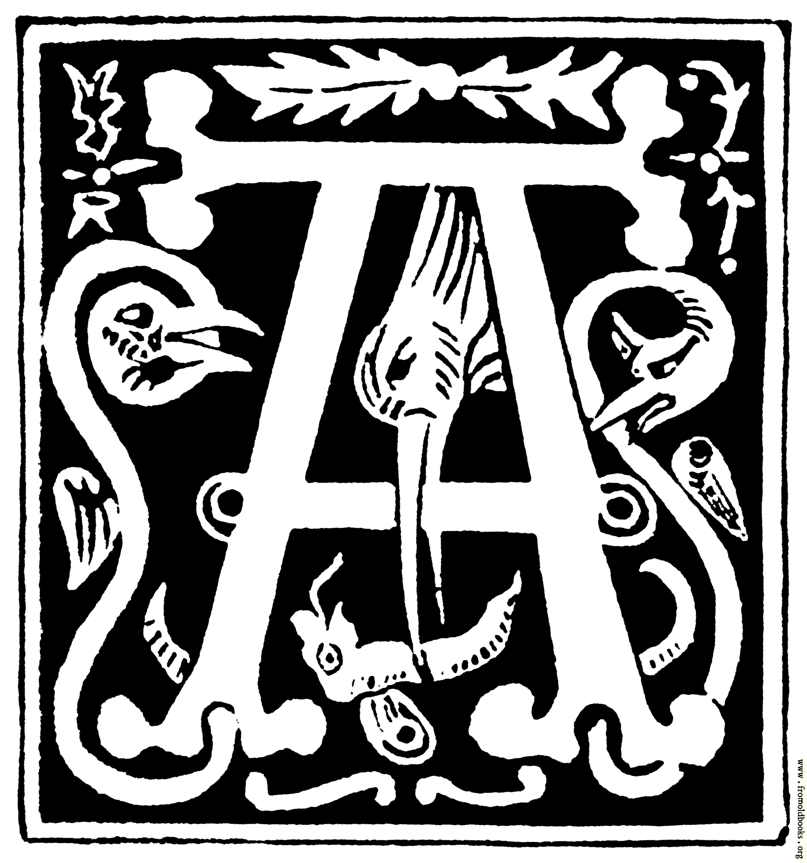 Decorative Letters Decorative Initial Letter A From 16th Century