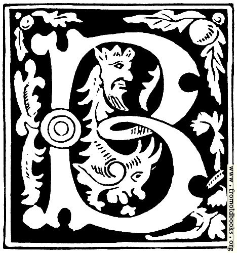 [Picture: Decorative initial letter ``B'' from 16th Century]
