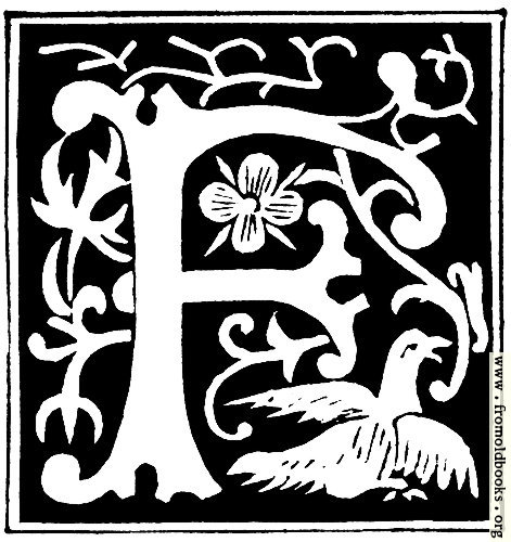 [Picture: Decorative initial letter ``F'' from 16th Century]