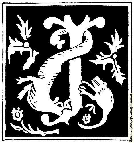 "[Picture: Decorative initial letter ""J"" from 16th Century]"