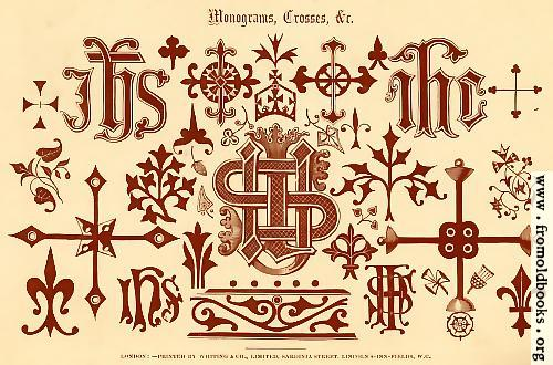 [Picture: 53.---Mongrams, Crosses, etc. [overview]]