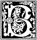 Decorative initial letter B from 16th Century