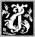 "Decorative initial letter ""J"" from 16th Century"