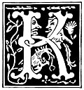 "Decorative initial letter ""K"" from 16th Century"