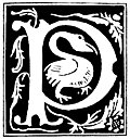 "Decorative initial letter ""P"" from 16th Century"