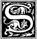 "Decorative initial letter ""S"" from 16th Century"