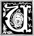 [picture: Decorative initial letter ``U'' from 16th Century]
