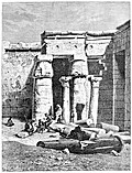 [picture: Court with Remains of a Christian Church at Medinet Haboo.]