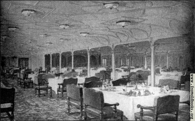 Titanic Third Class Menu Frontispiece 2 Grand Dining Saloon S S Titanic