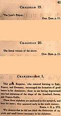 Page 41: Chaldean; Charlemagne (English description)