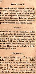 [picture: Page 50: Dalmation; Danish; Domesday]