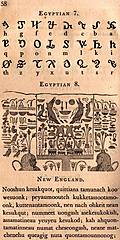 [picture: Page 58: Egyptian 7; Egyptian 8 (Hieroglyphics); New England.]