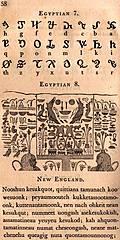 Page 58: Egyptian 7; Egyptian 8 (Hieroglyphics); New England.