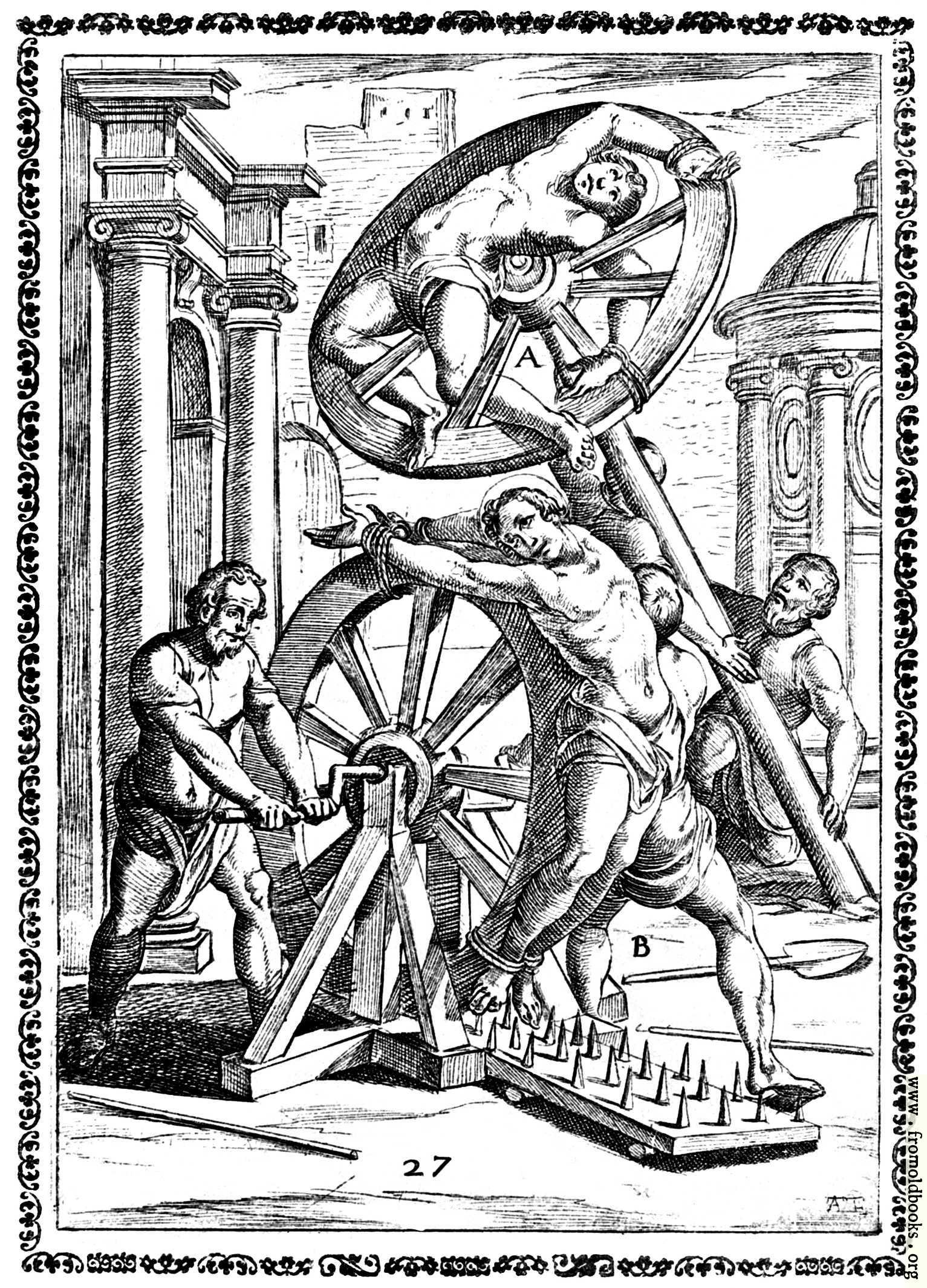 Medieval public punishment adult image