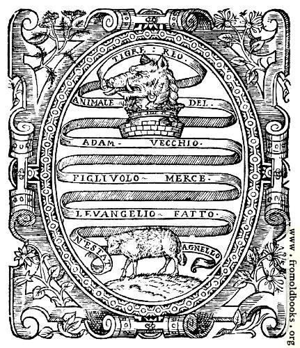 [Picture: Title page detail: heraldic scrollwork]
