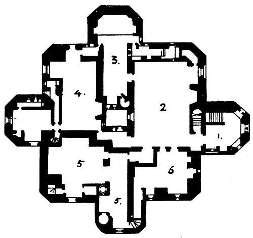 Warkworth Castle, Northumberland: Plan of the Keep [image 500x471 ...