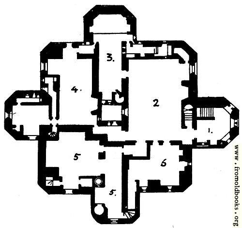 [Picture: Warkworth Castle, Northumberland: Plan of the Keep]