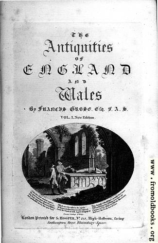 [Picture: Title Page, Antiquities of England and Wales]