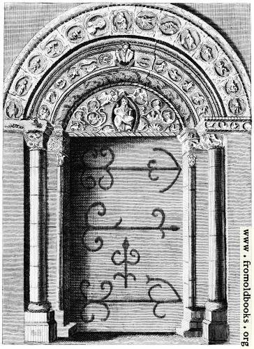 [Picture: The grand Door of Barfreston Church in Kent.]