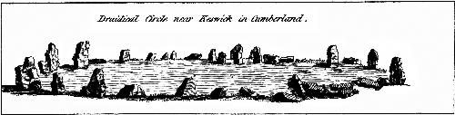 [Picture: Druidical Circle near Keswick in cumberland.  From the Druidical Antiquities Plate.]