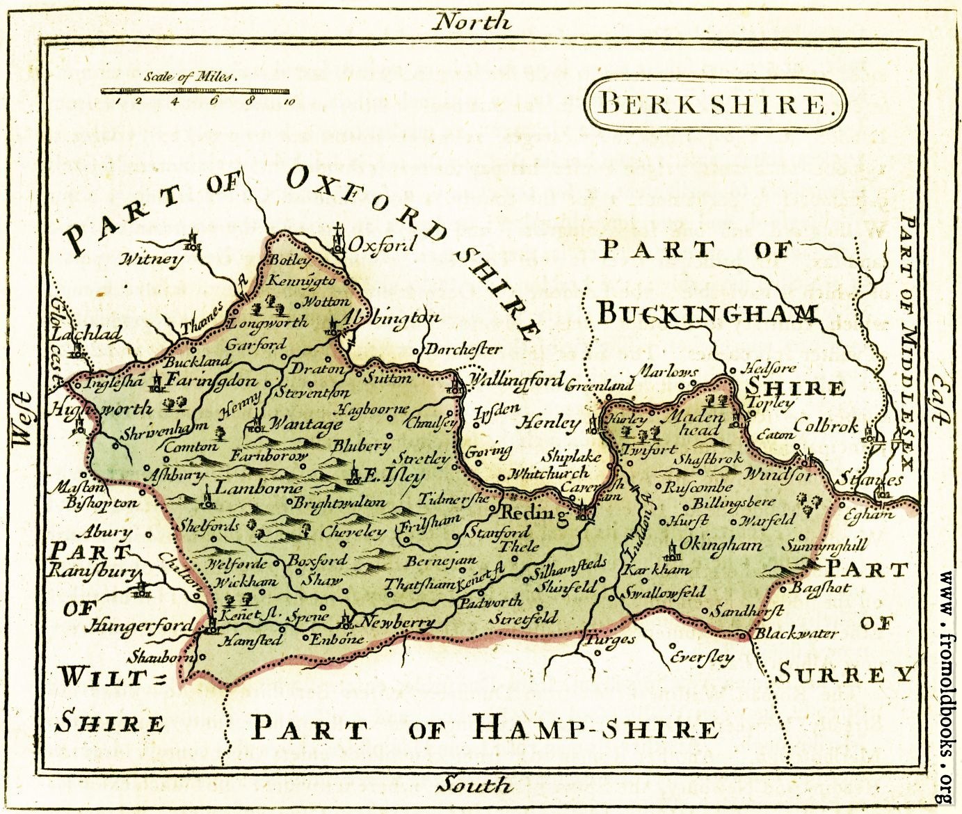 The map of berkshire for The berkshire