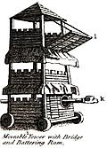 Moveable Tower with Bridge and Battering Ram.