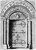 The grand Door of Barfreston Church in Kent.