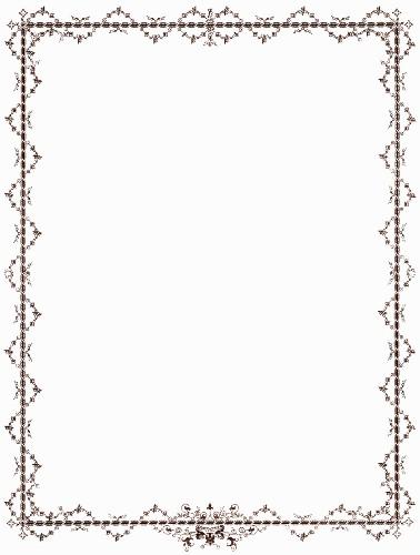 Clip Art Victorian Border Antique Brown Image Pixels