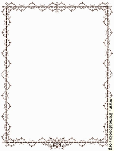 [Picture: Outer Victorian Foliated Border in Brown]